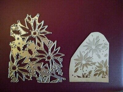 £4.99 • Buy Sizzix Die Cutter Thinlits  Christmas Holly Poinsetta Fits Big Shot