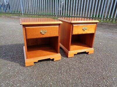 £75 • Buy Very Clean Retro Cherry Teak Younger Furniture Pair Of Bedside Cabinets Tables