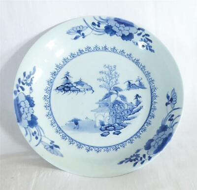 £9.99 • Buy V FINE ANTIQUE MID 18TH C CHINESE PORCELAIN LARGE DEEP PLATE NANKING CARGO 29cms