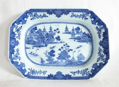 £9.99 • Buy Mid 18th Century Antique Chinese Blue And White Nanking Porcelain Meat Plate