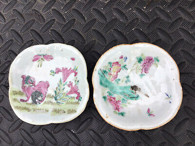 £4.99 • Buy 2 X Antique Chinese Porcelain Small Dishes