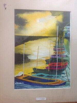 £15 • Buy Peter Scott Original Water Colour Painting Signed Wells Next The Sea North Norfo