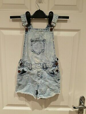 £4.99 • Buy F&F Girls Denim Co. Light Blue Dungarees Size 7-8 Years