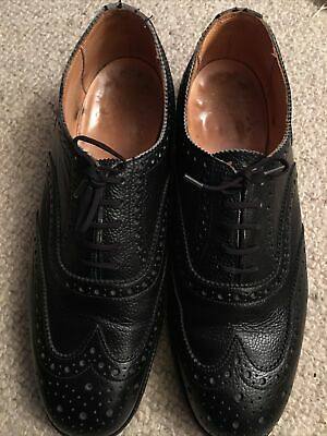 £39 • Buy Sander Wing Tip Shoes. Sz 10. Black Grained Leather. Hand Made In England.