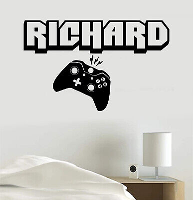 $ CDN16.84 • Buy Video Game Decal Personalized Name Or Gamer Tag Vinyl Sticker Wall Room Clip Art