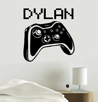 $ CDN16.85 • Buy Video Game Personalized Gamer Tag Joystick Vinyl Sticker Decal For Room Bedroom