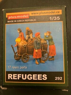 £25 • Buy NEW Plus Model Figures - Refugees And Cart 292 - 1:35 Scale Unpainted Resin Kit