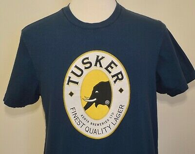 £9.42 • Buy Tusker Beer T-shirt Large Kenya Brewery Africa Elephant NOT TALL