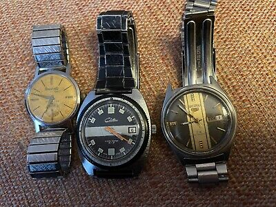 $ CDN34.95 • Buy Lot Of 3 Men's Watches- Vintage Seiko 5 DX, University, And Chateau. For Parts