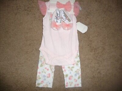 £8.29 • Buy NEW NWT Kyle & Deena Baby Girls Pretty Berry 4 Pc Layette Set 6-9 Months