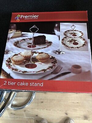 £4.99 • Buy 2 Tier Cake Stand - Vintage Brand New In Box