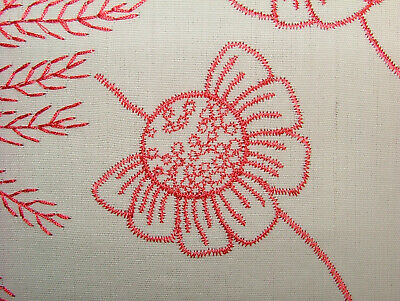 £3.99 • Buy 3 Metre Romo Embroidered Spring Floral Fabric Curtain Upholstery Cushion Blinds