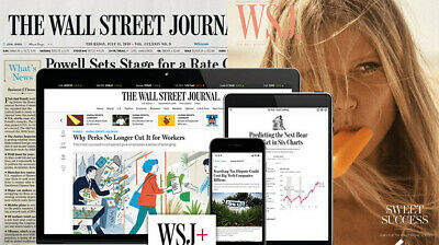 $118 • Buy Wall Street Journal  Print & Online All Access 1-YEAR WSJ Subscription NEWS