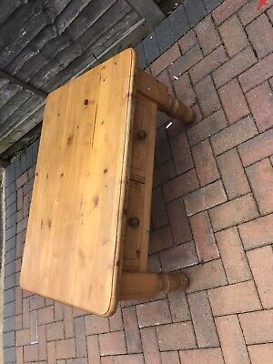 £25 • Buy Chunky Pine Solid Coffee Table With Two Drawers - Used Ideal For Upcycle