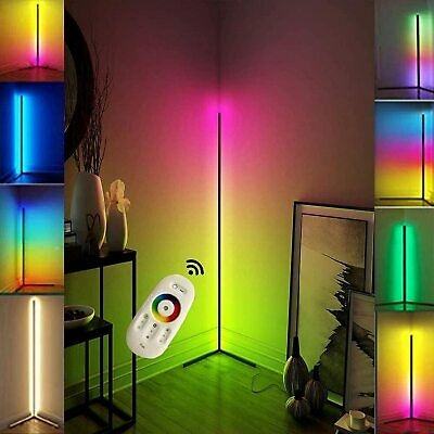 £44.98 • Buy Colour Changing RGB Mood Lighting Metal LED Corner Floor Wall Lamp With Remote·