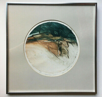 £17.98 • Buy 1980 Artist Proof Print Press Etching Abstract Modern Nature Mountain Signed