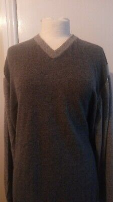 £120 • Buy N Peal Pure Cashmere High Vee Neck Sweater Long Sleeves - Greys -x Large