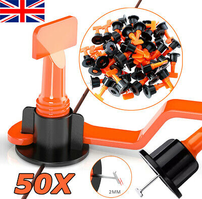 £9.99 • Buy 50X Floor Wall Tile Levelling System Leveler Tools Set Kit Reusable Construction