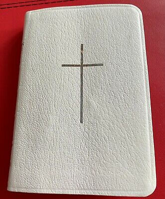 £4.50 • Buy Vintage Book Of Common Prayer White Leatheroid With Silver Edges - Collins - Vgc