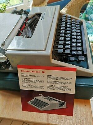 £18.20 • Buy Olivetti Dora Typewriter With Case And Instructions - Working Needs New Ribbon
