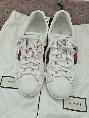 AU380.50 • Buy Gucci Ace Leather Sneaker - Mens (USED) Size 9G