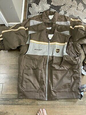 $100 • Buy Ups Freight United Parcel Service Brown Bomber Jacket Insulated Full Zip 3 Piec