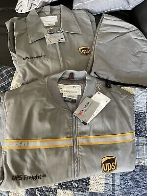 $150 • Buy Ups Freight United Parcel Service GreyBomber Jacket Insulated 2 Piece
