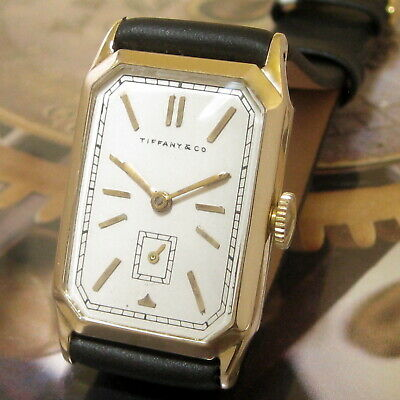 £271.90 • Buy Mens 1920s A. Wittnauer TIFFANY & CO Vintage 14k SOLID GOLD Art Deco Swiss Watch