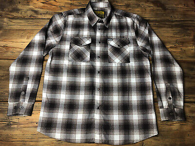 $300 • Buy DIXXON FLANNEL CO Original Release Yellow Tag Black Pearl Snap Size Large