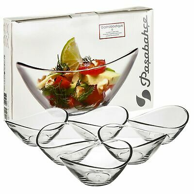 £7.95 • Buy 6 X Pasabahce Small Clear Glass Curved Dessert Bowls Ice Cream Fruit Sundae Dish