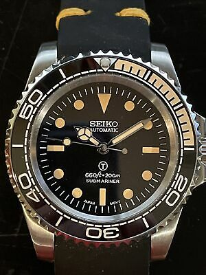 $ CDN368.26 • Buy Seiko 5513 Submariner Milsub Mod Homage Automatic Vintage Style Dive Watch NH35A
