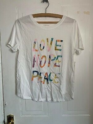$ CDN22.60 • Buy Anthropologie Love Hope And Peace T Shirt Size S New With Tags- See Description