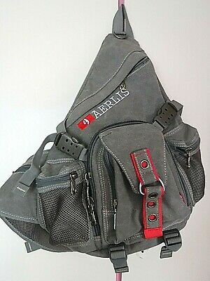 $16.68 • Buy AERLIS One Strap Cross Body Canvas Backpack .. Excellent Condition