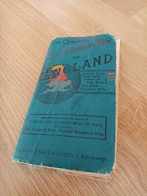 £7 • Buy Vintage Complete Safety Cycling Map Of England