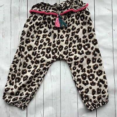 £2.99 • Buy Next Baby Girls Brown Animal Print Trousers 9-12 Months