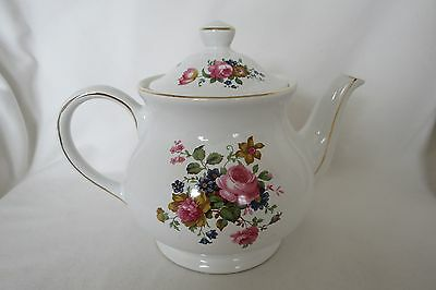 £20 • Buy VINTAGE SADLER FLORAL TEAPOT Made In England In Mint Condition Gold Trimming