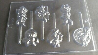 £5.95 • Buy 6 On 1 Minnie Mouse Chocolate Lolly Mould/moulds/disney/childrens/party Bag Gift