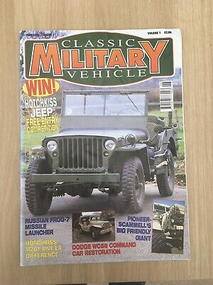 £5 • Buy Classic Military Vehicle Magazine Issue 1 Very First Issue Willys Jeep