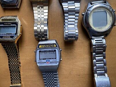 $ CDN16.17 • Buy Vintage Led Lcd Watch Lot Seiko, Texas Instruments Casio Not Tested