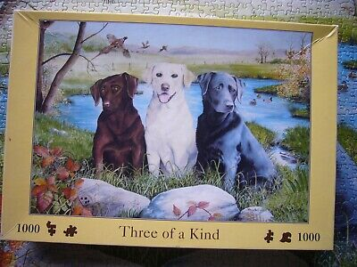 £7.99 • Buy Labradors Three Of A Kind House Of Puzzles  1000 Piece Minus 1 Jigsaw Puzzle Hop