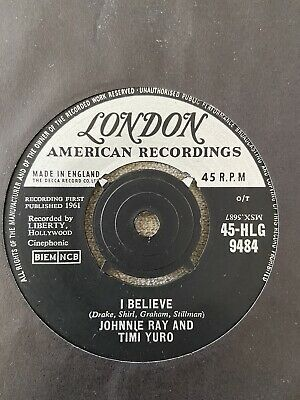 £16 • Buy Johnnie Ray And Timi Yuro I Believe London 1961 45