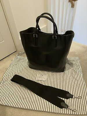 £199.99 • Buy Anya Hindmarch Black Smiley Tote Bag Made In Italy