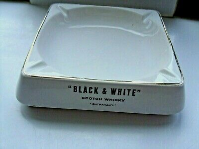 £3.99 • Buy Large Black And White Scotch Whisky Ashtray Made By Wade Regicor In VGC