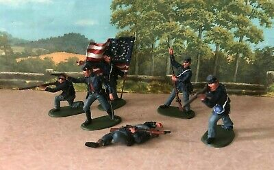 $29.99 • Buy HAND PAINTED Civil War Toy Soldiers In 54 Mm - 20th Maine Regiment (Set 2)