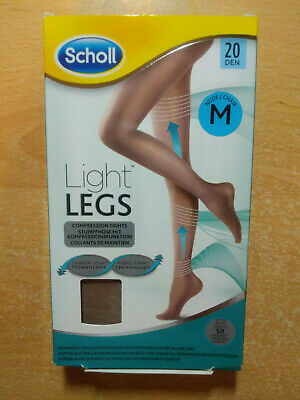 £4.99 • Buy SCHOLL Light Legs Compression Tights 20 DEN NUDE Size M