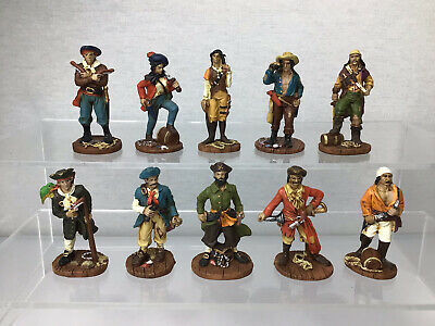 £19.95 • Buy Lot Of 10 Painted Resin Pirates Figures Toy Soldiers 54mm Scale #560