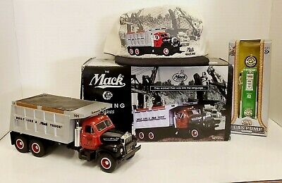 $25 • Buy 1960 Mack Dump Truck Model B-61 NO.101 With Hat&Gas Pump Replica Included