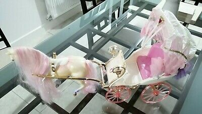 £35 • Buy Barbie Crystal Horse And Carriage Mattel 1991 Vintage RARE