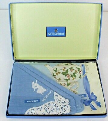 £38.71 • Buy Vintage Wedgewood Napkin And Tea Towel Gift Set New In Box Made In England