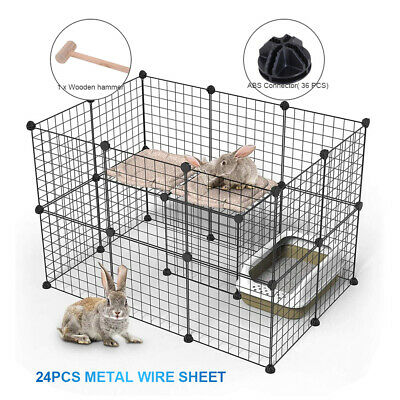 £37.95 • Buy Pet Playpen DIY Small Animal Cage Fence 36 Panels For Kitten Bunny Chinchilla